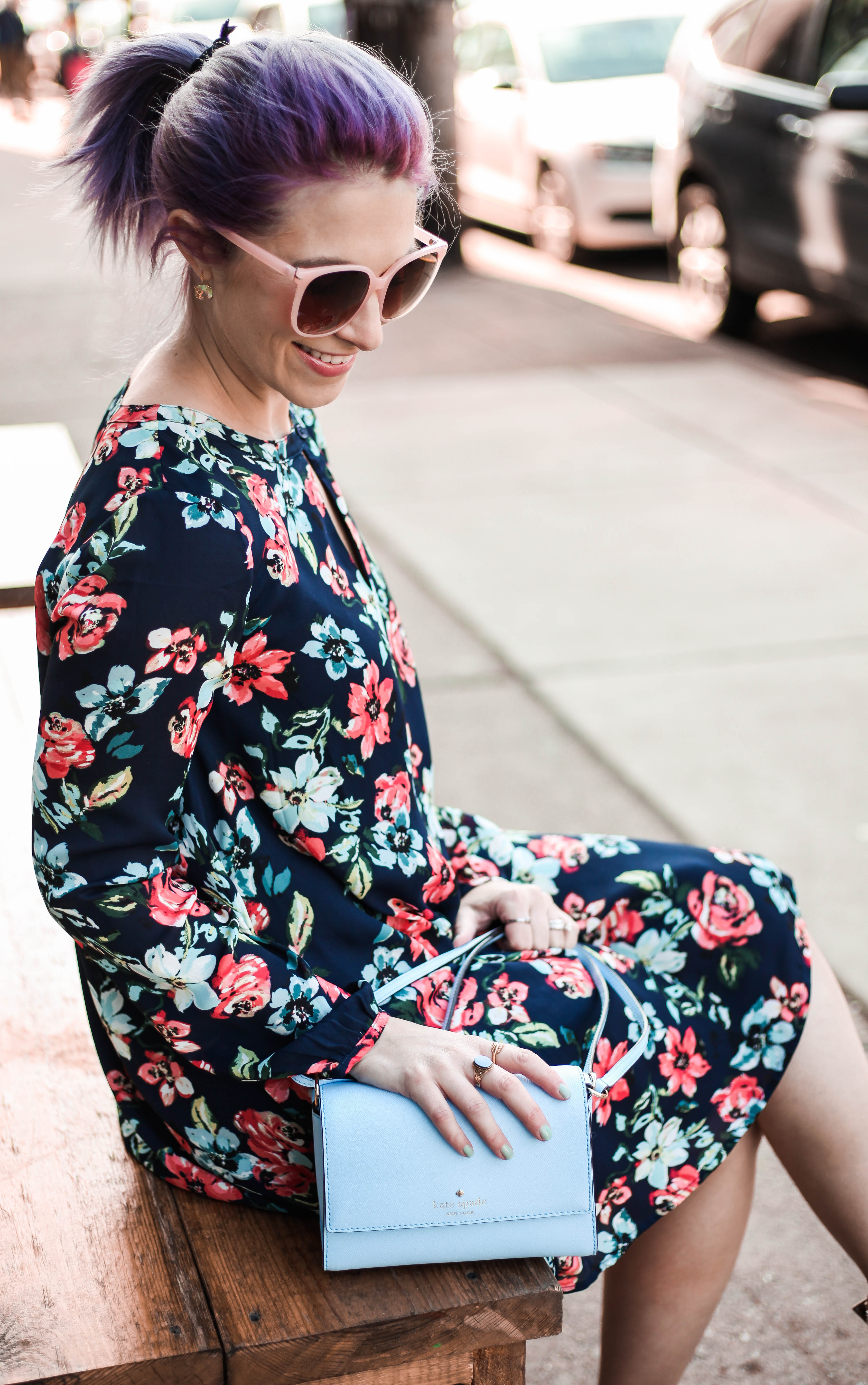floral coral dress